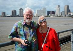 Steve & Andee at Crescent Park. New Orleans, LA (davidwilliamreed) Tags: stene andee brother sister crescentpark neworleansla skyline mississippiriver