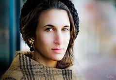 Alex [Stranger #35/100] (Vijay Britto Photography) Tags: blue woolen coat beautiful mysterious gaze enigma 100strangers naturallight outdoorportraits d750 nikon 85mm 18 smile