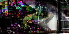 Calles de Madrid (seguicollar) Tags: imagencreativa photomanipulación art arte artecreativo artedigital virginiaseguí streetphoto surrealismo textura fotomontaje fuente farola edificio calles stree deformación agua water vehículos circulación