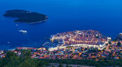 Dubrovnik - View over Old Town (kenny mccartney) Tags: dubrovnik croatia hrvatska republikahrvatska formeryugoslavia yugoslavia slavic balkans adriatic mediterranean dalmatian oldtown unesco bluehour dawn blue cityscape seascape ancient historical kennymccartney getty gettyimages license longexposure le canon 5dii tse24lii gameofthrones kingslanding got hbo beach placa plaza laplage sea sun swimming boating yacht harbour sunset elafitiislands