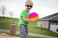 365 Project - April 13 (lupe1515) Tags: 365 project aj outside driveway ball game fun laughing