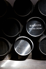 Barrels captured in light (Jaap Coorens) Tags: jerez shadow zwart spain text andalusia tonnen wit sherry schaduw brandy licht barrels perdrodomecq light