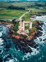 Pigeon Point Lighthouse (Todd Danger Farr) Tags: lighthouse pigeonpoint california magicpro drone coast ocean rockyshores