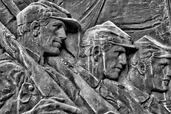 Civil War Monument (J and A's Photography) Tags: black white auburn newyork new york ny nysland soldiers monument