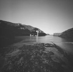 Porthgain Harbour (Christopher M Hight) Tags: pinhole panf50 ilford film 6x6 zero 2000 120