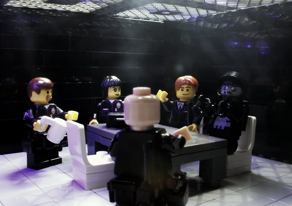 zombie interrogation brick police tags lego police minifig zombies blacktron interrogate