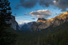Yosemite's Tunnel View (tr0mbley) Tags: park camping sunset view hiking parks tunnel el falls national yosemite dome half bridalveil capitan 2014