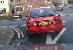 040520141175 (uk_senator) Tags: red ford sierra 1991 hatchback lx 5door