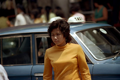 19-619 (ndpa / s. lundeen, archivist) Tags: city people woman color film 35mm thailand bangkok candid cab taxi nick citylife streetphotography streetlife pedestrian thai pedestrians 1970s 1972 19 youngwoman 1973 taxicab dewolf nickdewolf photographbynickdewolf reel19