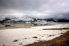 Jackson Lake (RH Miller) Tags: usa snow mountains ice water clouds landscape wyoming jacksonlake reedmiller rhmiller