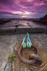Port Errol Sunset (Pureo) Tags: sunset sea sky port canon landscape boats bay scotland rust aberdeenshire rope errol cruden canon550d