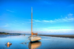 Summertime on Cape Cod Bay (PapaDunes) Tags: ocean summer seascape sailboat capecod anchor capecodbay brewsterflats brewsterma