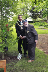 Warwick Rotary Club President Michael Swaby & Warwick Mayor Cllr Bob Dhillon planting an Oak tree, donated by Warwick Tree Wardens, in Pageant Garden (Strobix Photography. Warwick UK) Tags: photography jane steve warwick strobix wwwstrobixphotographycouk