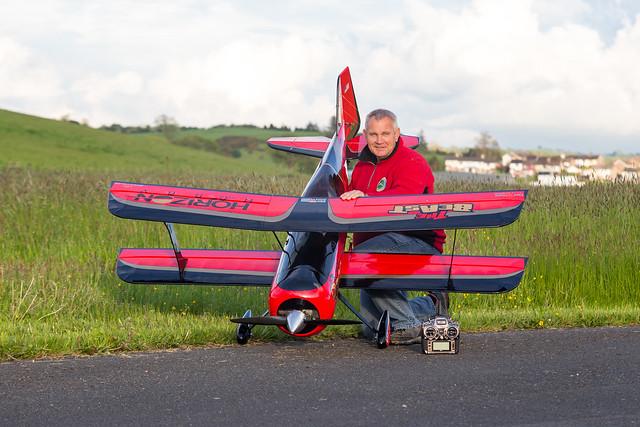 Phil posing with his Hangar 9 Beast.