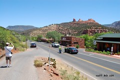 Sorry, You Gotta Turn Back..... (ashman 88) Tags: arizona sedona az adot sedonaaz nikond40 slidefire 21may2014 sedonapolice