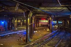 New York City Subway (Huanhai) Tags: newyork canon subway manhattan streetphotography tunnel timessquare canon6d