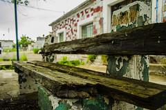 Απομεινάρια του χθές.... (Christos Sevaslian) Tags: wood sky green bench aquaduct xanthi ξανθη ξυλο ουρανοσ παγκακι υδραγογειο
