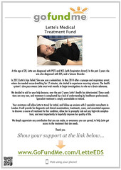 Lette's Medical Treatment Fund (Lette Moloney) Tags: ireland money london thanks hospital poster photo code please you text syndrome medical thank pots help eds care doctors fundraiser qr limerick raise treatment fund ehlers epilepsy seizures funds specialist danlos tachycardia postural orthostatic lettemoloney gofundme wwwgofundmecomletteeds