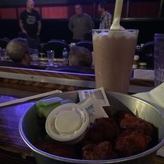 Hot wings and espresso milkshake
