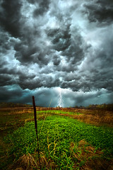 Riding the Storm Out (Phil~Koch) Tags: park morning blue autumn trees winter sunset shadow red summer portrait sky orange sun snow storm flower tree green fall love ice nature floral field leaves rain weather yellow vertical wisconsin clouds sunrise season photography dawn landscapes office spring twilight peace shadows wind earth farm horizon extreme scenic meadow inspired naturallight farmland photograph environment serene wildflowers lightning agriculture inspirational nationalgeographic chaser horizons philkoch