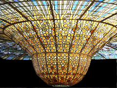 Art deco lamp in Barcelona (Marco Braun) Tags: barcelona art de la lampe spain europa europe musica nouveau deco palau modernismo spanien espage 2014 cataluna katalonien jugenstyl