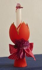 Castiçais de garrafas pet (Brechó de ideias) Tags: flores preto vermelho cerâmica fuxico coração sementes colar gargantilha velas colares linha cordão laço miçangas acabamento cortadosrecortes