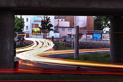 cars //1 (dorthrithil) Tags: light cars canon eos long exposure traces uni ef koblenz tracing 6d 24105 h0