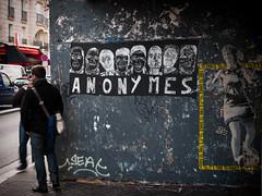 Anonymes...ça c'est Paris. (fredoloco) Tags: street urban streetart paris france collage de graffiti dance tag stranger streetphoto graff pompidou marais ville rivoli beaubourg hôteldeville lightroom pochoir hôtel artderue gf1 anonimous anonymes humanlife