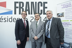 Alexander Dobrindt,José Viegas and Frédéric Cuvillier on the French Presidency Stand