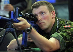 Canadian Forces - CANSEC 2014 (Ottawa, Ontario) (Canadian Forces Photos - Forces canadiennes photos) Tags: canada soldier army ottawa rifle weapon sniper caf cf dnd canadianarmedforces cansec canadianforces nationaldefence cansec2014