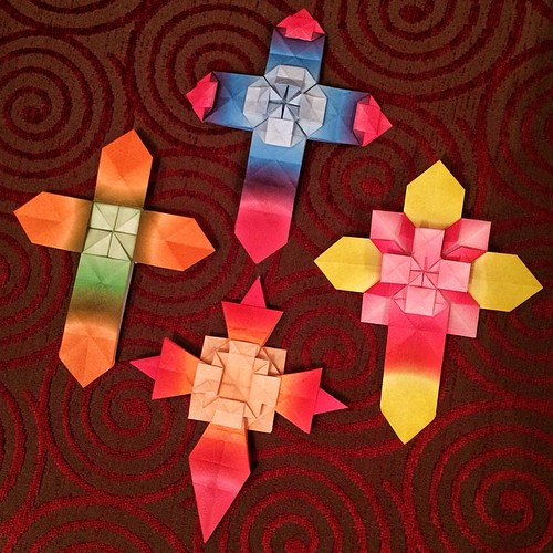 Origami Cross Images Coloring Pages Adult