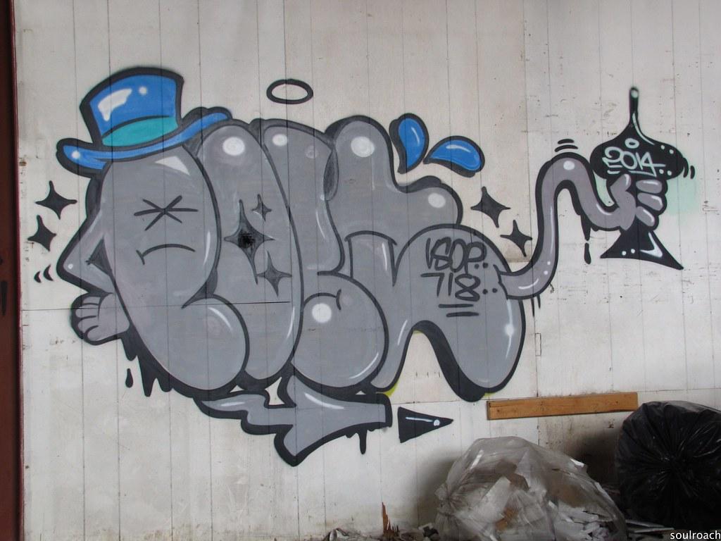 Post (soulroach) Tags: new york nyc ny abandoned graffiti post vsop 718 aow