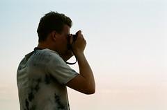 Erik shooting on film (DavidTrebicky) Tags: sea summer color classic film analog dead iso100 israel telaviv lenstagged fuji desert asahi pentax takumar superia tel aviv jerusalem middleeast jaffa east arab jewish spotmatic hebrew middle masada palestina spii telavivjaffa takumar55f18 pentaxspotmaticspii takumarsmc55f18