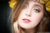 Maria Pagano: Gaze (Carlos Cruz Trabanino) Tags: flowers portrait macro cord model nikon flash headshot greeneyes micro ttl nikkor speedlight softbox d3 strobe cls mua sb800 lauralouise strobist sc28 carloscruzphotography mariapagano 105mmafsf28g