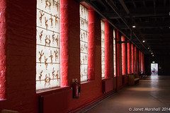 Gallery windows, Salt's Mill (Janet Marshall LRPS) Tags: gallery bradford yorkshire unescoworldheritagesite saltaire saltsmill titussalt
