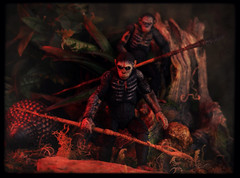 NECA Dawn of the Planet of the Apes - Caesar and Koba (Ed Speir IV) Tags: fiction film movie toy toys actionfigure dawn monkey chimp action spears battle caesar science planetoftheapes actionfigures weapon figure dio planet scifi ape warrior monkeys warriors sciencefiction chimpanzee figures apes chimps diorama weapons reel spear koba neca chimpanzees reeltoys dawnoftheplanetoftheapes