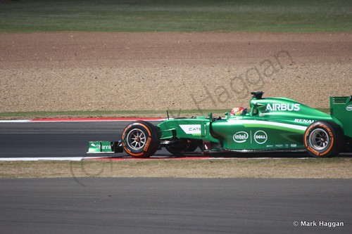 Robin Frijns in his Caterham during Free Practice 1 at the 2014 British Grand Prix