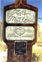 Tonopah Kate, died in 1908 of a morphine overdose. (ashabot) Tags: history sad desert graveyards nevada graves mementomori tombstones historicalsites