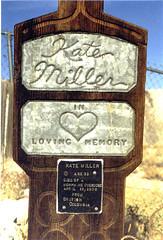 Tonopah Kate, died in 1908 of a morphine overdose. (ashabot) Tags: history sad desert graveyards nevada graves mementomori tombstones historicalsites