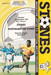 Maidstone United vs Northampton Town - 1990 - Cover Page (The Sky Strikers) Tags: street town official northampton stones united match maidstone programme watling