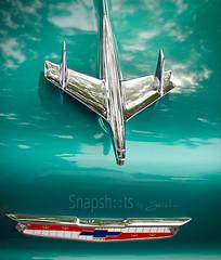 teal chevy bel air plane hood ornament (SnapshotsbySarah) Tags: oldcars classiccars backtothe50s classiccarphotos classiccarphotography snapshotsbysarah classiccarpics mrsabacktothe50s