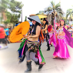 (Artypixall) Tags: california women san diego marching umbrellas 2014lgbtprideparade