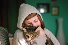 DSC_9933 (plastic_tack) Tags: portrait cute girl cat hoodie whiskers