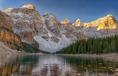 Moraine Morning (Philip Kuntz) Tags: morning canada sunrise reflections dawn bravo alberta banff daybreak morainelake tenpeaks banffprovincialpark