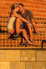 Lovers Soaking in the Sunset (World-Images) Tags: stairs sandiego lovers mountsoledad worldimages