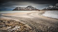 [ ... flakstady ] (D-P Photography) Tags: mountains beach norway clouds canon dark landscape dramatic arctic nd lofoten strom longtimeexposure flakstad northernnorway ndgrad flakstadoy leefilters dpphotography