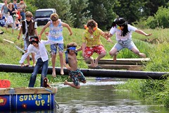 Crazy Raft Race _ 109 (lens buddy) Tags: uk england wet somerset rafting raft watersports fancydress cameraclub summergames langport thorney canoneosdigital crazyrafting lowlandgames2014