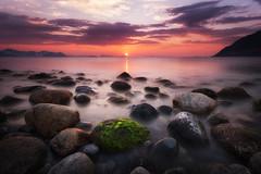 mOoDs (~~~johnny~~~) Tags: sunset summer seascape seaweed water norway clouds landscape rocks searchthebest norwegen noruega algea nofilters wondersofnature beautifulplanetearth