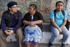 Time for a chat, near Antigua, Guatemala (Yekkes) Tags: guatemala centralamerica latinamerica antigua village people friends chat shy embarrassed sitting artist maya street urban reallife
