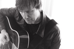 Portrait of Morten Hammerseng (alexrostad) Tags: rock portrait blackandwhite 50mm blury highkey face male guitar music